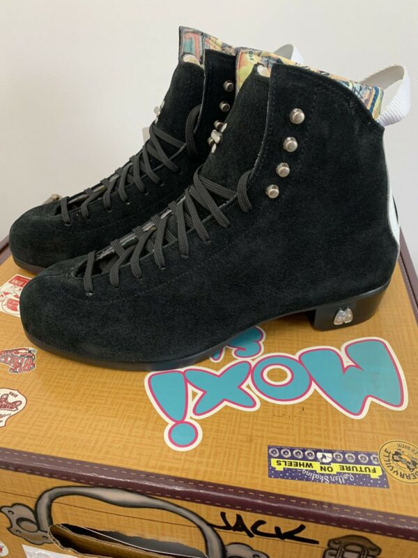Moxi Roller Skate Boots Black Jack Boots Only Sz 10 Black ⚫️ NEW Ready to Ship