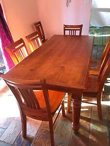 Dining table and 6 chairs Glendenning Blacktown Area Preview