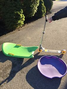 Fun Kids Sport Pack: Two Toboggans and a Carrera Scooter