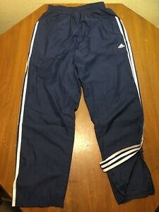 ea748e3cc Adidas Mens S Sweat Pants Wind White Stripes Soccer Track Mesh Blue  Polyester