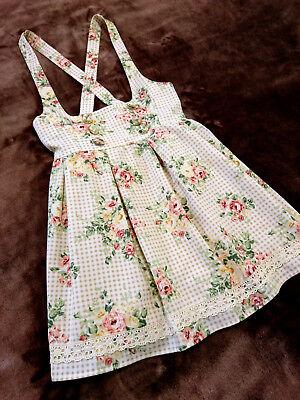 Romantic rose&Gold checks jumper skirt Lizmelo LIZ LISA+My melody Japan-L Lolita