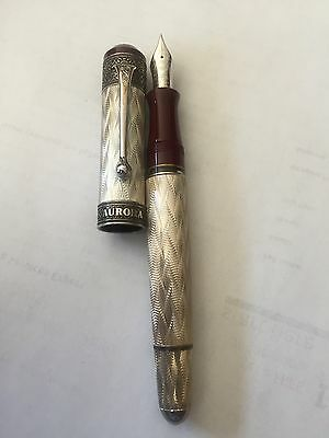 Aurora 80th Anniversary Limited Editiond Sterling Silver Fountain Pen