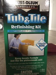 Tub and tile refinishing kit + equipment