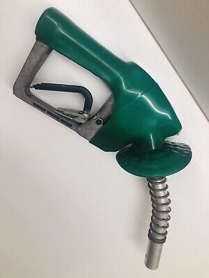 Husky Gas Pump Nozzle - Unleaded - Green Perfect To Hang In A Man-cave