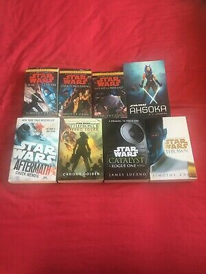 Star Wars Paperback Novels X 8 Very Good Condition.