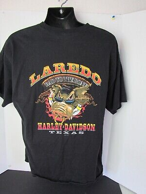 Harley Davidson Laredo Texas HOG -BAD TO THE BONE T-SHIRT MEN'S XL