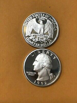 Roll of 40 GEM PROOF CAMEO 1998-S CLAD Washington Quarters Free Shipping