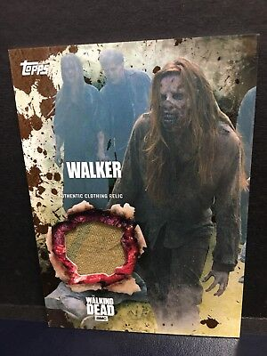 The Walking Dead Season 5 Walker Authentic Clothing Relic Card Mud 14/50 -