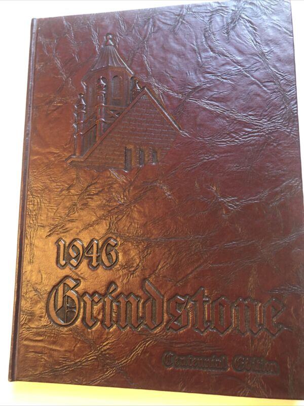 1946 Baldwin-Wallace College Grindstone Yearbook Berea Ohio. Centennial Edition