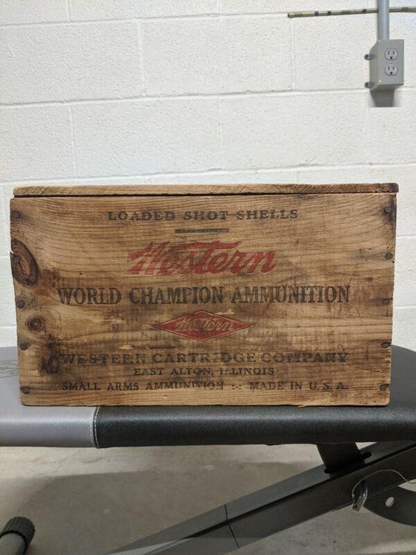 12 Gauge Winchester Wooden Ammo Box