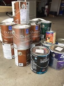 Gallons of new paint