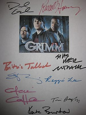 Grimm Signed TV Script X9 David Giuntoli Russell Hornsby Elizabeth Tulloch repnt