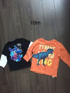 18 month boys long sleeve shirts