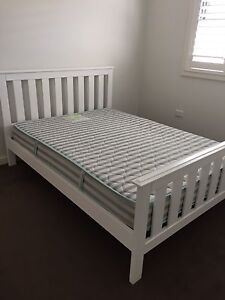White Timber Double Bed Jamisontown Penrith Area Preview