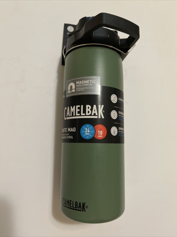 NEW CAMELBAK CHUTE MAG STAINLESS STEEL 0.6L / 20oz VACUUM INSULATED WATER BOTTLE