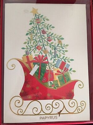 PAPYRUS Traditional Sleigh Boxed Christmas Cards (Set of 14) ()