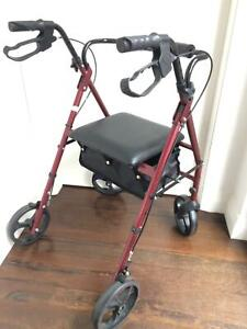 HUGO MOBILITY ROLLATOR PORTABLE WALKER WITH SEAT