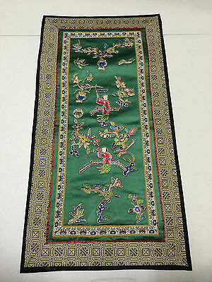 HANDMADE CHINESE SILK EMBROIDERY PANEL
