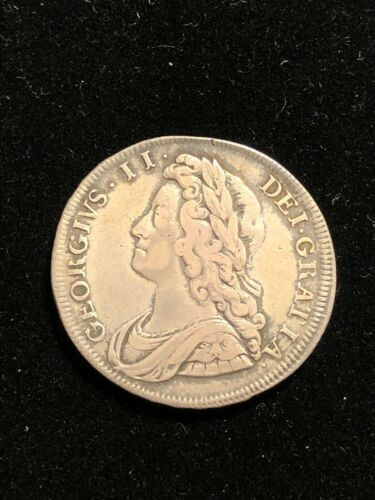 ENGLAND 1731 Silver Half Crown, George II, S-3692 VF Pretty Coin, Great Britain