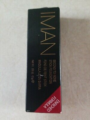 Iman Second To None Stick Foundation Enriched Formula Clay 2 Paraben Free Makeup