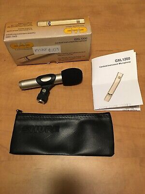 CAD GX1200 Condenser Mic+Shure SM57/58 Case For Cymbals Mandolin Drum Microphone 1200 Small Case
