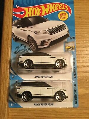 2019 Hot Wheels #237 Range Rover Velar WHITE Kroger Exclusive ERROR VARIATION X2