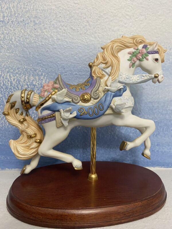 Lenox The Carousel Horse 2000 New Sculpture Vintage Millennium