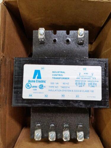 ACME ELECTRIC INDUSTRIAL CONTROL TRANSFORMER TA83314 120/240 60 HZ