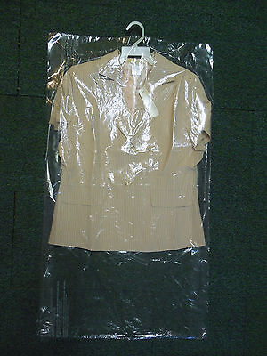 Lot Of 15 Dry Cleaner Poly Garment Gusseted Plastic Bags  21  X 4  X 38  Suit