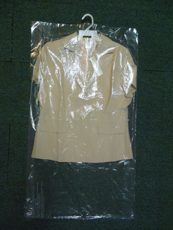 """Lot of 15 DRY CLEANER POLY GARMENT GUSSETED PLASTIC BAGS. 21"""" x 4"""" x 38"""" Suit"""