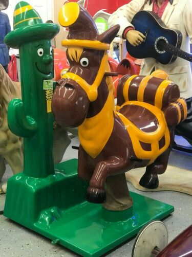 COIN OPERATED DONKEY/CACTUS KIDDIE RIDE *Coin-Op Collectibles