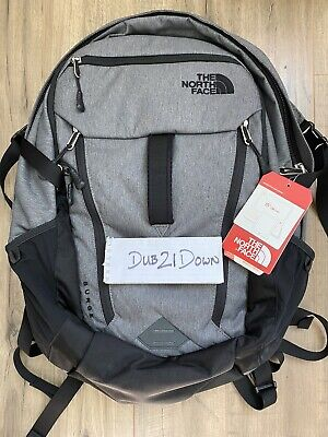 Brand NEW The North Face Surge Backpack Gray Heather Flex Vent