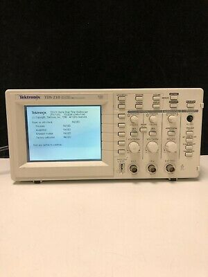 Tektronix Tds 210 60mhz 1 Gss Two Channel Digital Real-time Oscilloscope