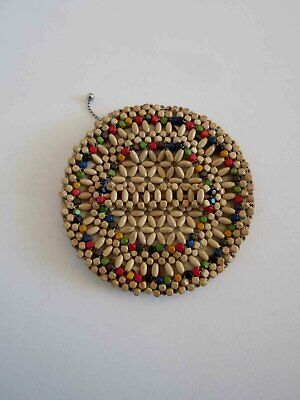 1930s Handbags and Purses Fashion Wooden Beaded Vintage Dance Purse With Finger Strap - 1930s $41.79 AT vintagedancer.com