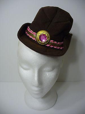 Brown Mini Cowboy Hat on Headband  Saloon Girl Cowgirl Halloween Hat - Saloon Girl Hats