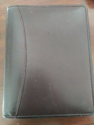 Franklin Quest Compact Top Grain Leather 1.25 6 Ring Binder 6.5x8.25 Covey