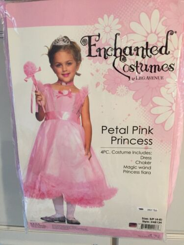 NWT Enchanted Costumes Petal Pink Princess Halloween Costume size S(4-6) 4 piece