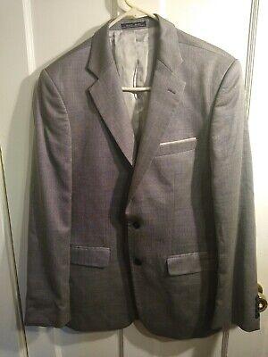 Zara Man Suit Jacket Size 42 Gray Wool Silk Blend Sport Coat Blazer