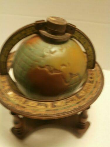 VINTAGE ITALIAN PORTABLE ZODIAC BOTTLE GLOBE DECORATIVE EARTH GLOBE