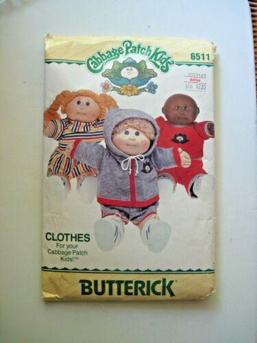 Vintage Cabbage Patch Butterick Pattern # 6511 - Uncut Complete
