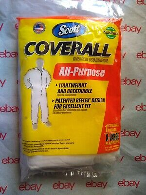 Scott Fabric All-purpose Coverall Disposable Size X-large 76350 - Newsealed