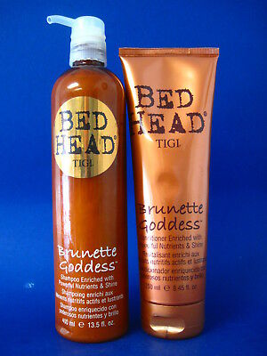 TIGI BRUNETTE GODDESS SHAMPOO 13.5 OZ AND CONDITIONER 8.45 OZ DUO