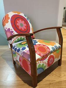 Child's Bedroom Vintage Upholstered Arm Chair North Willoughby Willoughby Area Preview