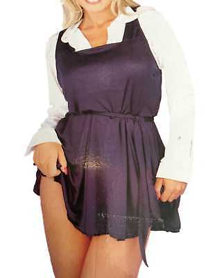 New Ladies Naughty College Girl Outfit Size 8 - 10 White Blouse Blue Dress - News Girl Kostüm