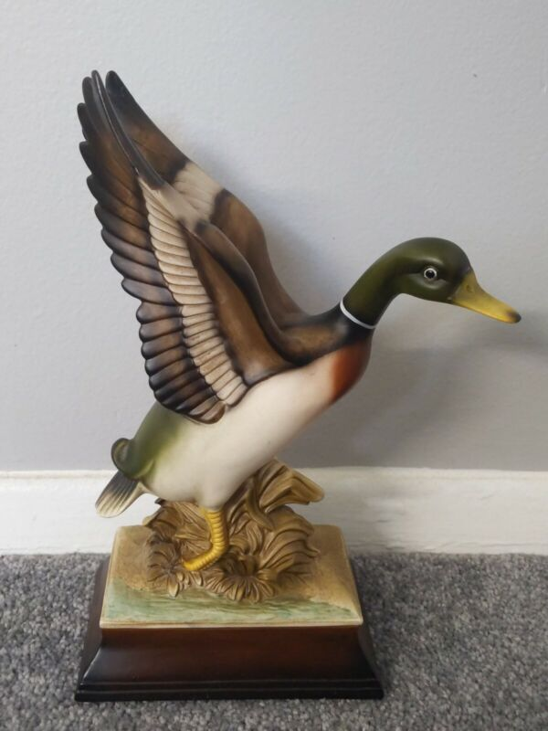 """Flight of the Mallard"" Porcelain Duck bird Collectible Figurine made in japan"