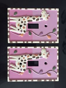 Ceramic baby-room light switch covers