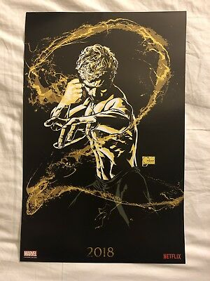 SDCC 2018 Marvel Iron Fist Mini Poster 13 x 20 Marvel Booth Exclusive Netflix