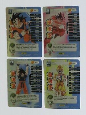 Dragon Ball Z Panini Base Set 1 Goku level 1-4 High-Tech FOIL Main Personality
