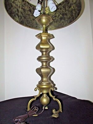 Large Mid Century Hollywood Regency Large Brass/Bronze Table Lamp