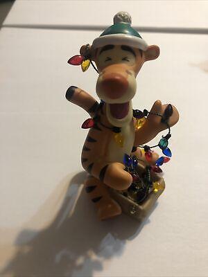 "Disneys Pooh & Friends ""Tigger Make The Best Christmas Trees"" Figurine"